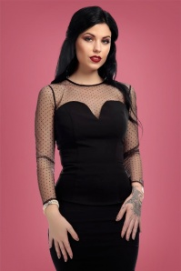 Collectif Clothing Morticia Polkadot Mesh Top 21959 20170607 0009