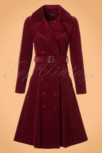 Bright and Beautiful Sage Cord Coat in Burgundy 21685 20170612 0005W