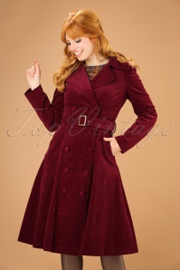 Bright and Beautiful Sage Cord Coat in Burgundy 21685 20170612 01W1
