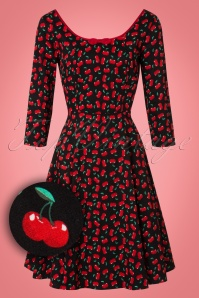 Collectif Clothing Willow Small Cherries Doll Dress 21844 20170614 0014W1
