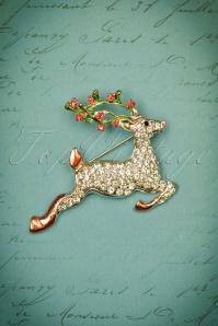Kaytie Multi Coloured Deer Brooch 340 90 23666 02112017 008W