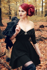 Collectif Clothing Rachel Doll Dress in Black 18882 20160601 0022w