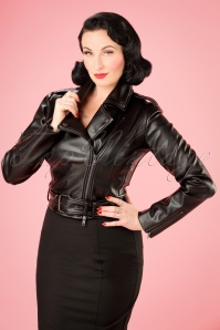Collectif Clothing Kim Cry Baby Biker Jacket in Black 21713 20170609 1W
