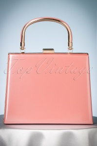50s Leona Lacquer Lock Bag in Old Pink