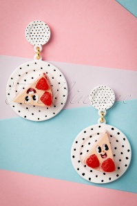 50s Delighted Strawberry Cream Cake Earrings