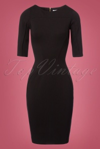Closet London Panel Black Dress 100 10 24002 20171113 0003W