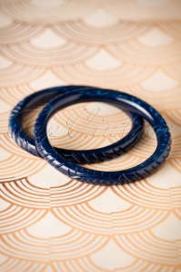 Splendette Narrow Navy Fakelite Bangle 310 31 23721 05102016 008