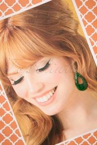 Splendette Deep Green Fakelite Drop Earrings 333 40 23726 20171109 0021w