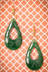 Splendette Deep Green Fakelite Drop Earrings 333 40 23726 20171109 0008w