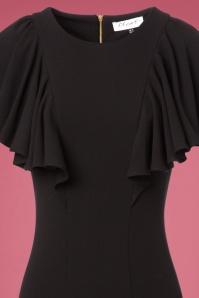 Closet London Frill Shoulder Black Dress 100 10 24003 20171113 0003V