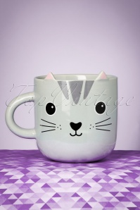 Sass & Belle 60s Nori the Cat with Ears Large Mug