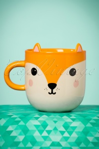 Hiro the Fox with Ears Large Mug Années 60