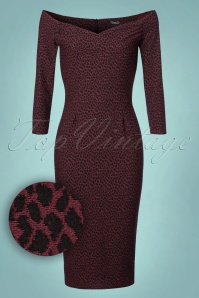 Vintage Chic Bodycon Leopard Wine Pencil Dress 100 27 22763 20171113 0002W1