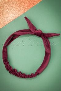 Celestine Bordeaux Velvet Bow Headband  208 20 23408 20171108 0011w