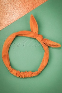 Celestine Orange Velvet Bow Headband  208 21 23409 20171108 0005w