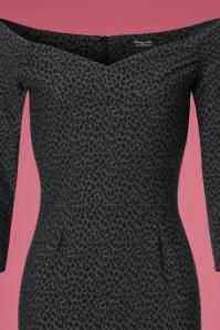 Vintage Chic Bodycon Leopard Grey Pencil Dress 100 27 22764 20171113 0002V