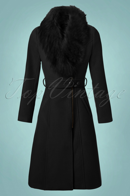 1950s Jackets and Coats | Swing, Pin Up, Rockabilly 50s Fabiola Coat in Black £98.50 AT vintagedancer.com