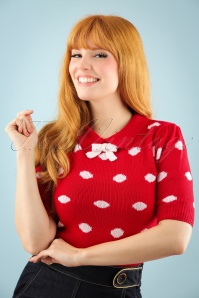 Sugar Shock Gina Polkadot Red Top 113 27 22169W