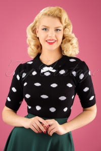 SugarShock Gina Polkadot Black Top 113 14 22170 01W
