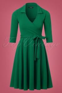 50s Gloria Wrap Dress in Emerald