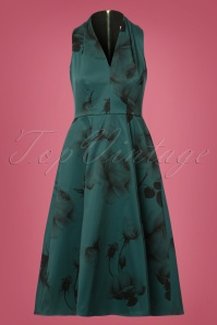 Closet Green Roses Dress 102 40 24007 20171114 0001W