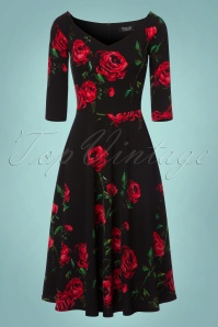 Vintage Chic Waterfall Crepe Dress with Roses 102 14 22518 20170918 0002 New LiningW