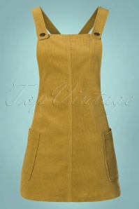 Bright and Beautiful Lena Cord Pinafore Dress in Mustard 21682 20170614 0005W