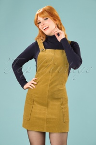 Bright and Beautiful Lena Cord Pinafore Dress in Mustard 21682 20170614 01W