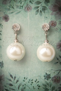 Elegant Pearl & Diamante Drop Earrings