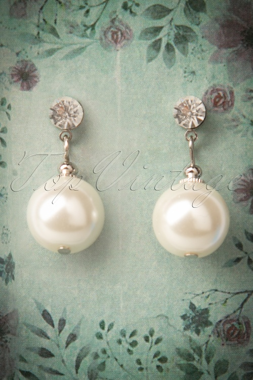 Collectif Clothing Pearl and Diamond Earrings 333 50 12087 20171115 0009w