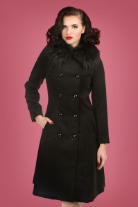 Hearts and Roses Black Faux Fur Coat 152 10 24150 20171115 0019