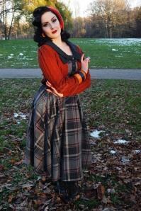 Miss Candyfloss Navy Tartan Swing Dress 102 39 19340 20161025 0036 Wilhelmina Af Feraw