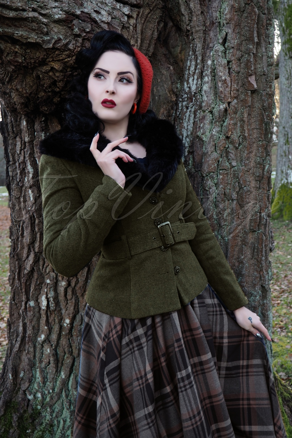 Vintage Coats & Jackets | Retro Coats and Jackets 40s Molly Jacket in Olive Green £100.60 AT vintagedancer.com