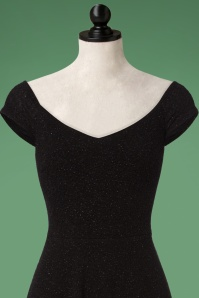 Vintage Chic Black Semi Swing Glitter Dress 23811 20171115 0001cdoll