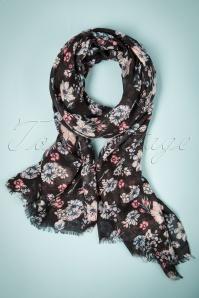 Celestine Floral Scarf in Black 240 10 23416 20171103 0010w