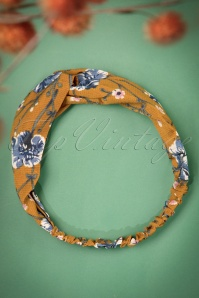 50s Floriana Head Band in Mustard