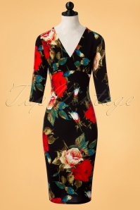 Vintage Chic Floral Waterfall Crepe Pencil Dress 100 14 23612 20171116 0003wdoll