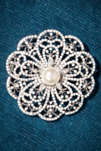 40s Sophie Flower Brooch in Silver