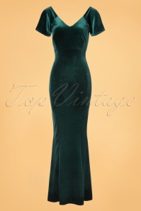 Vintage Chic Velvet Green Maxi Dress 108 40 23991 20171114 0002W