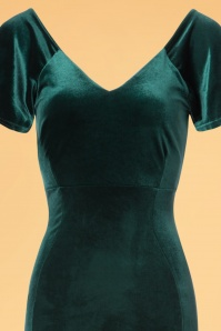 Vintage Chic Velvet Green Maxi Dress 108 40 23991 20171114 0002V