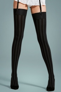 Julia Traffic Stockings in Black and Grey
