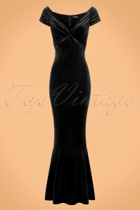 Vintage Chic Velvet Twist Black Maxi Dress 108 10 22465 20171120 0001w