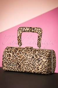 50s Barrel Bag in Leopard