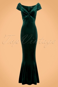Vintage Chic Velvet Twist Green Maxi Dress 108 40 22466 20171120 0001w