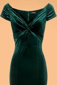 Vintage Chic Velvet Twist Green Maxi Dress 108 40 22466 20171120 0001c
