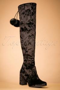 Tamaris Black Velvet Boots 440 10 21945 13112017 004W