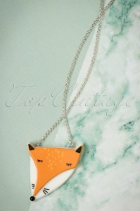 Lisa Angel Acrylic Fox Necklace 300 80 23795 07112017 005W