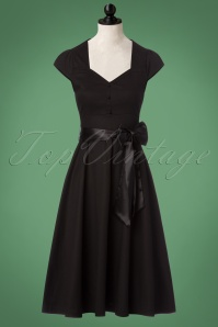 50s Avery Swing Dress in Black