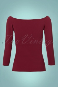 Vintage Chic Scuba Crepe Top Long Sleeve in Puprle 113 60 22755 20171120 0009W
