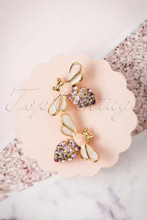 Lisa Angel Bee Gold Earrings 310 91 23802 07112017 004W
